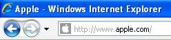 Adresszeile Internet Explorer 8