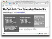 float/clear-Bug in Firefox 2.0.0.8 (OS X)
